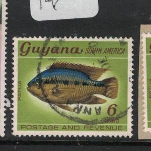 Guyana Fish Anna River Town Cancel  VFU (7dua)