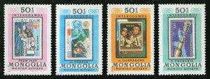 Mongolia 1981 MNH Stamps Scott 1232 e-h Space Astronauts Intercosmos