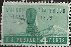 # 1124 USED OREGON STATEHOOD 100TH ANNIV.
