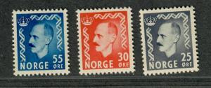 Norway Sc#322-324 M/NH/VF, Complete Set, Cv. $28.40