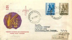 Cover Italia Italy AMG FTT Agriculture FDC 1953