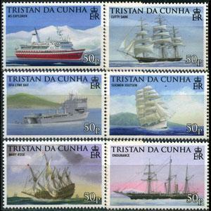 TRISTAN DA CUNHA 2009 - Scott# 857-62 Ships Set of 6 NH