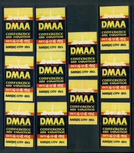 11 VINTAGE 1935 DMAA DIRECT MAIL ADVERTISING ASSN POSTER STAMPS KANSAS CITY L904