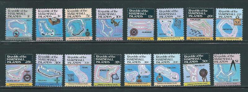 Marshall Islands 35-49A Islands set MNH