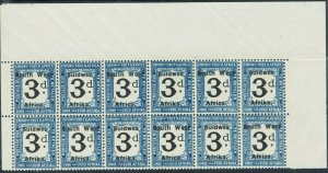 SOUTH WEST AFRICA 1927 POSTAGE DUE 3D MNH ** BLOCK