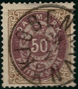 Denmark 1875 Scott #33 Facit 36c F-VF Cat $35...Great cancel!