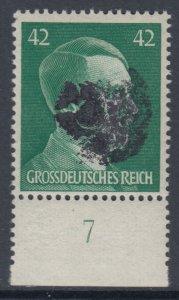 Germany Soviet Zone SBZ - LOCAL ROTSCHAU 42Pf HITLER head - Expertized Valicek