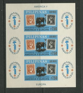 STAMP STATION PERTH Philippines #C110 Espalmer '77 Souvenir Sheet MNH CV$10.00