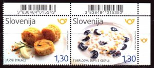Slovenia. 2018. 1340-41. Slovenian national food, strudel gastronomy and milk...