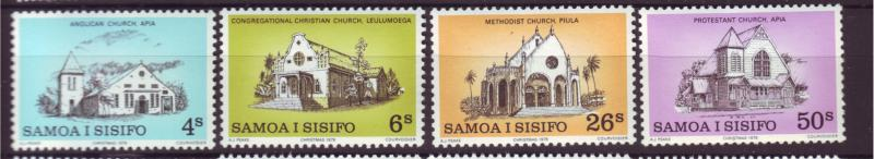 J19659 Jlstamps 1979 samoa set mnh #517-20 churches