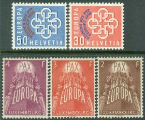 EUROPA : 2 Better Very Fine, Mint Never Hinged sets.