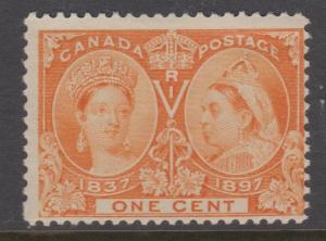 Canada 1897 1c Jubilee Sc#51 MNH Slight Offset Ink on Back