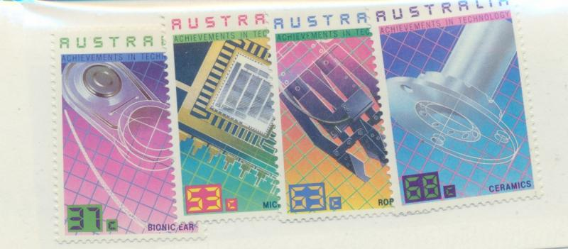 Australia Scott #1036 To 1039, Mint Never Hinged MNH, Technology Issue From 1987