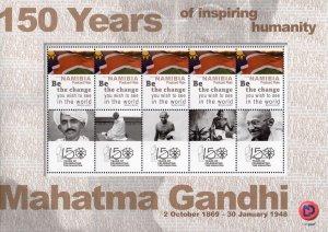 Namibia - 2019 Mahatma Gandhi Sheet (**)