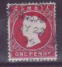 Gambie Gambia Cancelled Paquebot Liverpool 1p Cameo Posted on steamer