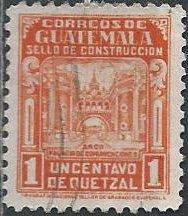 Guatemala RA22 (used) 1c Communications Bldg Arch, org (1945)