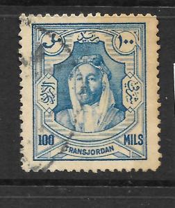 TRANS JORDAN 1927-29  100m   BLUE      FU    SG 168