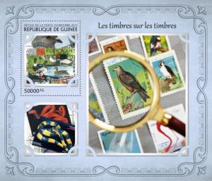 GUINEA 2017 SHEET STAMPS ON STAMPS gu17117b
