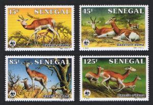 Senegal WWF Dama Gazelle 4v 1986 MNH SG#848-851 MI#875-878 SC#677-680 CV?9.-