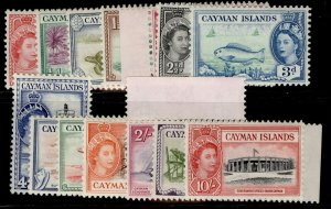 CAYMAN ISLANDS QEII SG148-161, short set, NH MINT. Cat £65.