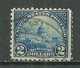 1922 Sc572 $2 United States Capitol used