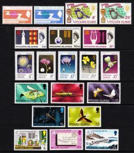 PITCAIRN ISLANDS — SCOTT 52//269 — 1965-86 — 12 SETS — MNH — 4 SCANS —SCV $90.40
