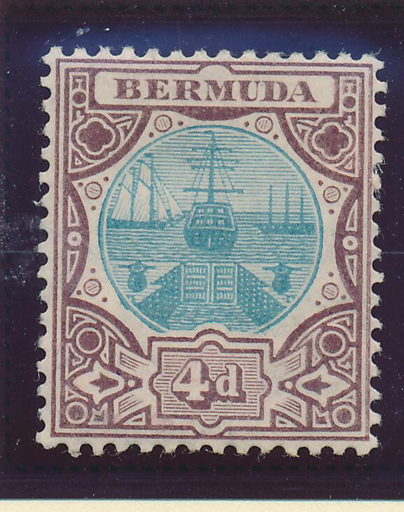 Bermuda Stamp Scott #39, Mint Hinged