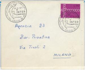 59650 -  ITALY- POSTAL HISTORY: POSTMARK on  COVER  1971 - FOOTBALL: Inter
