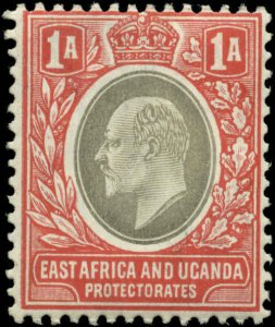 East Africa & Uganda Scott #18 Mint Hinged  Chalky Paper
