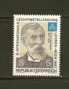 Austria Dr Carl Joseph Bayer 1987 Issue MNH
