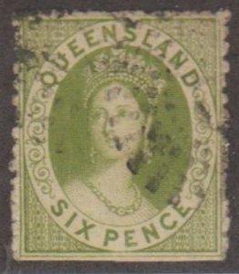 Queensland - Australia Scott #42 Stamp - Used Single