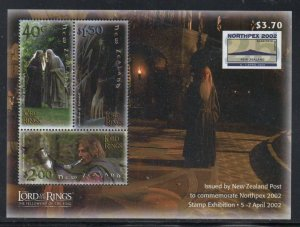 New Zealand Sc 1755c 2001 Lord of the Rings stamp sheet mint NH