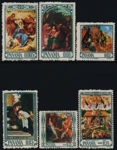 Panama 471-471F MNH Art, Paintings, Nativity, Madonna & Child