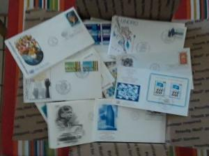 Box of 720+ United Nations First Day Covers Cacheted Unaddressed All Offices