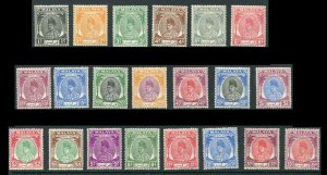MALAYA Perlis Scott 7 - 27 Set 1951-1952-55 21 Stamps  MLH   CV $145.00