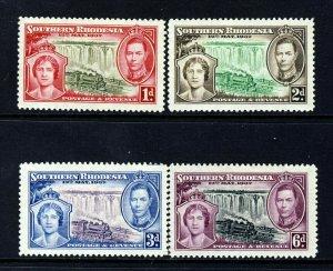 SOUTHERN RHODESIA KG VI 1937 Complete Coronation Set SG 36 to SG 39 MINT