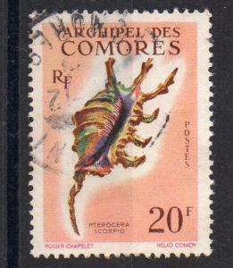 COMOROS - FRENCH COLONY - SEASHELL - PTEROCERA SCORPIO - 1962 - Used -