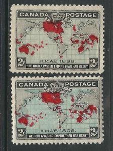 Canada Stamps 85-86 SG 166-67 MNH F/VF 1898 SCV $200.00