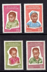 Central African Republic #35-38 1964 MNH heads of children