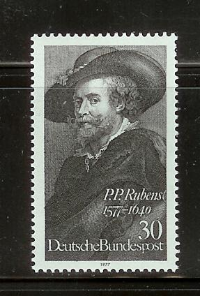 Germany 1250 Set MNH Rubens, Self Portrait (C)