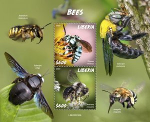 Stamps LIBERIA 2020 - BEES.