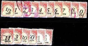 U.S. #J88-J104 Used