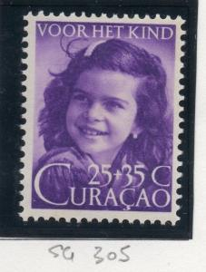 Caracao 1948 Early Issue Fine Mint Hinged 25c. 167217
