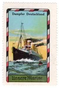 (I.B) Germany Cinderella : Steamship Label (Our Fleet)