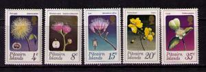 PITCAIRN ISLAND Sc# 130-134 MNH FVF Set 5 Flowers