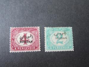 Sudan 1897 Sc J1,J2 MH