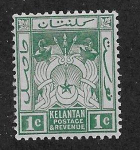 MALAYA - KELANTAN  SC# 1a  F/MLH