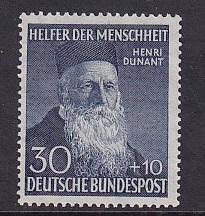 Germany  #B330   MNH  1952  Henri Dunant  30 + 10 pf