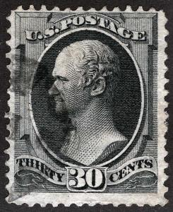 US Sc 165 Black 30¢ CBNCo Printing Fancy Cork Cancel
