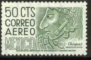 MEXICO C287, 50¢ 1950 Def 5th Issue Fluorescent uncoated. MINT, NH. F-VF.